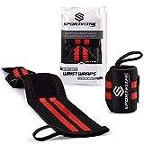 Sportvitae® - Muñequeras Deportivas Crossfit 1 Par 45cm Ideales para Calistenia Halterofilia Weightlifting Deadlift - Hombre y Mujer