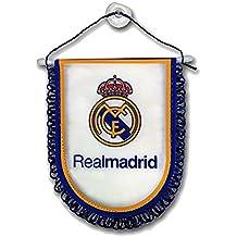 9010ac894c088 GR Banderin Clasico Real Madrid 14X11 cm. Blanco con Ventosa Licencia  Oficial