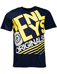 Mens Henleys Edge T-Shirt Graphic Print Casual Short Sleeve Crew Neck Top