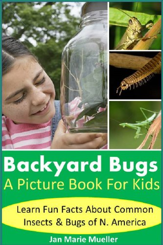 Backyard Bugs: Picture Book For Kids: Ladybugs, Bees, Spider, Grasshoppers, Centipedes, Praying Mantids and more! Learn fun facts about bugs and insects ... Amazing! Series 7) (English Edition) - Backyard Bugs