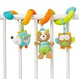 ODN Mobile für Kinderwagen/Kinderbett zum Aufhängen mit Plüschtieren für Baby