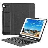 OMOTON Custodia con Tastiera Bluetooth per Nuovo iPad 9.7 2018&2017/iPad PRO 9.7/iPad Air 2/iPad Air - Layout Italiano - Ultra-Sottile e Elegante - Nero  - 512ufnehPrL - Tastiere per Tablet PC più vendute