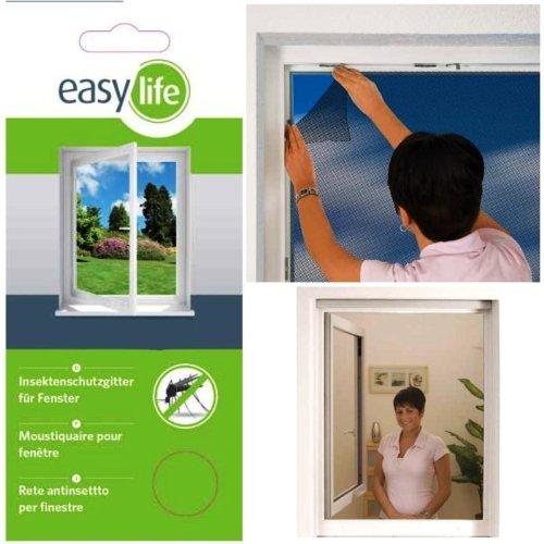 Zanzariera insecta di protezione a rete per finestre 110 x 130 cm accorciabile