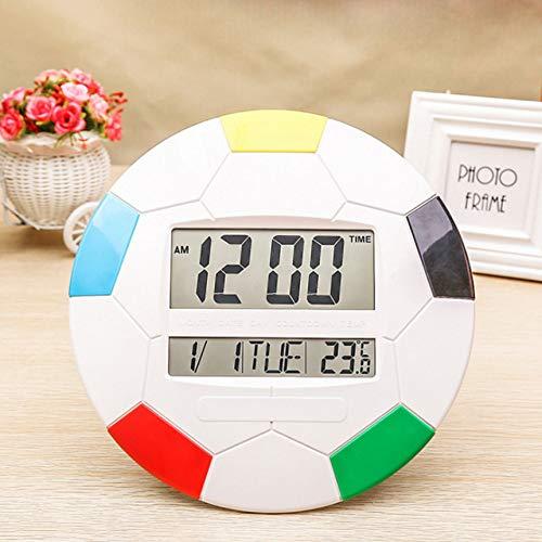 Ptica sveglia da calcio per regalo orologio da tavolo da studente orologio da parete digitale da parete elettronico con calendario