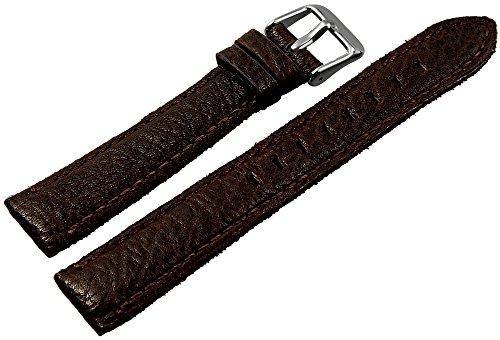 Hochwertiges Echt-Lederband, braun, Gr. 18