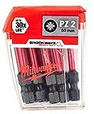 Milwaukee Shockwave 10 x PZ2 50mm Screwdriver Bits 4932430866
