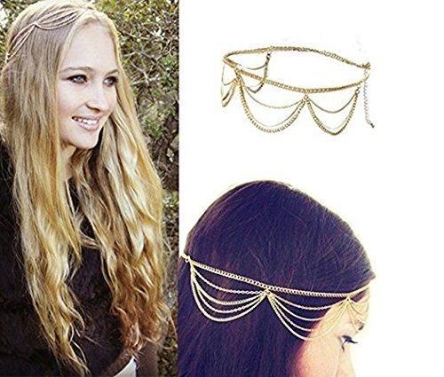 UChic 1 STÜCKE Mode Gothic Frauen Damen Krone Kopfschmuck Kopfschmuck Headwrap Haar Kette