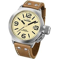 TW Steel Canteen Leather - Reloj de pulsera