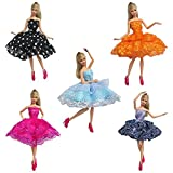 d11fe15a0d36 Creation 5PCS Moda principessa Dress Handmade di cerimonia nuziale copre  l abito per Barbie Doll