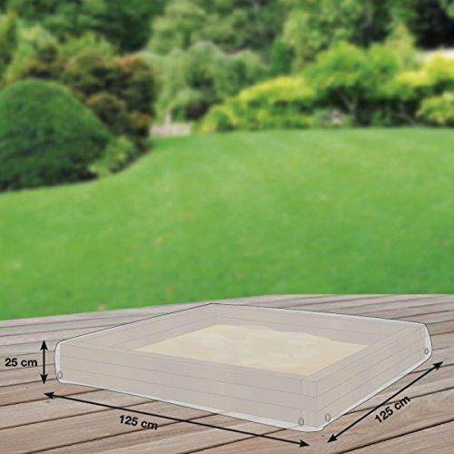 Schutzhuellenprofi Bâche de protection en PE pour bac à sable Transparent Taille M 125 x 125 cm