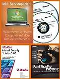 Windows 7 Home Premium 32 - 64 Bit Deutsch inkl. Service Pack 1 (SP1) MAR Refurbished Version