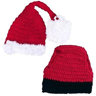 STOBOK Gorro de Papá Noel recién Nacido Accesorios de fotografía Disfraz de Gorro navideño para bebés y niños pequeños Trajes navideños (Algodón)