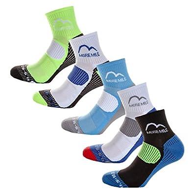 Mens More Mile London 5 Pack Running Socks Multicolour Padded