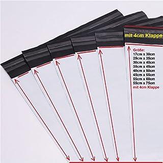 logei® 100St Folienversandtaschen Plastikversandbeutel Versandbeutel Warenbeutel Versandtasche, undurchsichtig (30cm x 40cm)