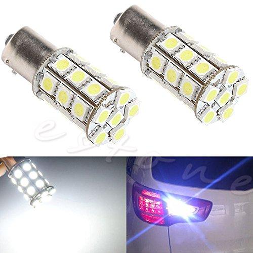 AST Works 1Pc 1156 5050 BA15S 27 SMD LED Car Brake Tail Turn Light Lamp Bulb 12V White