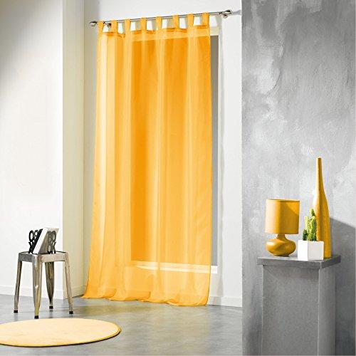 Douceur d'intérieur tenda con passanti, in poliestere, dimensioni: 140 x 240 cm, ceramica, giallo, 140x1x240 cm