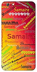 Samaira (Enchanting) Name & Sign Printed All over customize & Personalized!! Protective back cover for your Smart Phone : Moto G-4-Plus