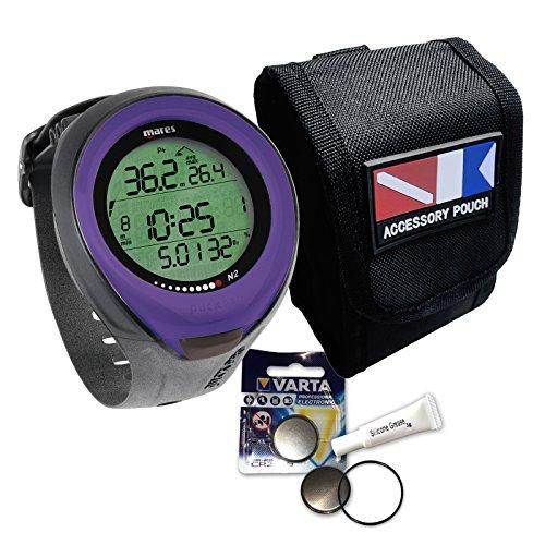 Mares Puck Pro Sparset - Tasche, Batterie Kit, Silikonfett (Farbe: lila)