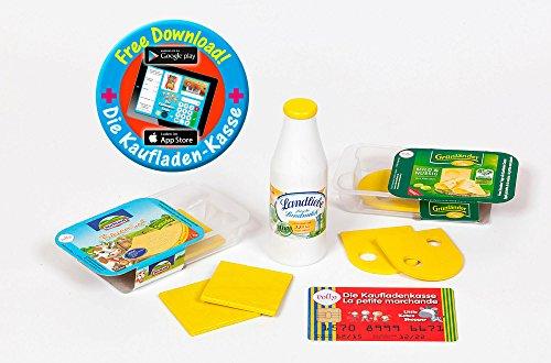 """Kaufladen Zubehör """"Polly"""" Milch, Käse Set aus Holz"""