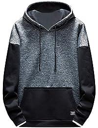 9d4abbf66024 ODRD Hoodie Männer Sweatshirt Herren Frühling Herbst Mode Sport Patchwork  Hoodie Lange Ärmel Sweatshirt Top Sweatjacke Sweater…
