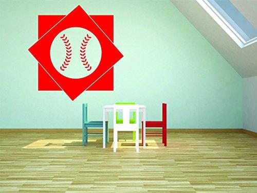 Design mit Vinyl Rad 8911Baseball Design Jungen Schlafzimmer Baby Teen Wand Aufkleber, RAD 891 2 -