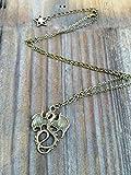 Collar de dragón dorado para hombre, collar de dragón inspirado en los descendientes, collar maléfico, joyería para disfraz de hombre, joyas de dragón, oro o bronce