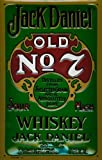 Blechschild Nostalgieschild Jack Daniels Old No. 7 green label Whiskey Schild