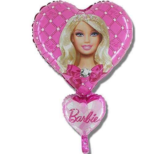 Image of Barbie Heart Supershape foil balloon 28 inch