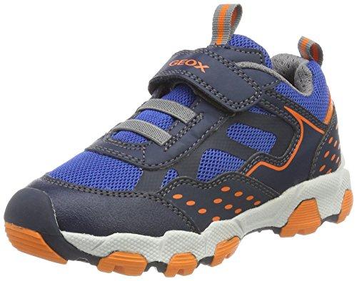 Geox Jungen J Magnetar Boy B Sneaker, Blau (Navy/Orange), 34 EU (Geox Jungen Sneakers)