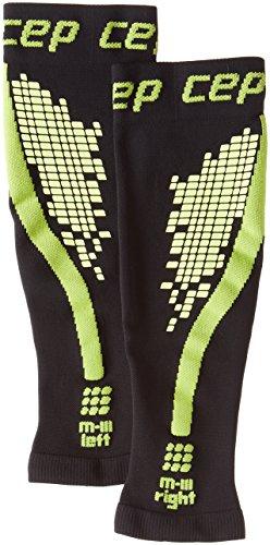 CEP Damen Progressive + nighttech Kompression Ärmel–Reflektierende Calf Sleeves für Outdoor Nacht läuft Größe L schwarz / grün