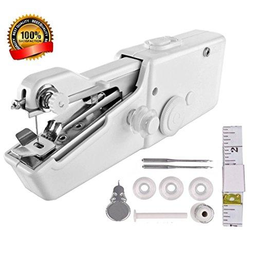 VICTOREM Tragbare Nähmaschine Mini Handnähmaschine, Schnellheftwerkzeug für Stoff, Kleidung Oder Kindertuch