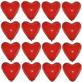 P&S events 50 große Premium Herz Luftballons Farbe Rot Ø 30cm Helium geeignet Markenqualität Party Hochzeit Geburtstag Herzluftballons
