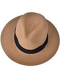 EEVASS Mujer Sombrero al Aire Libre UPF 50+ Protector Solar Verano Panamá Gorra Plegable