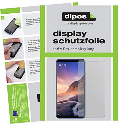 dipos I 2X Schutzfolie matt passend für Xiaomi Mi Max 3 Folie Bildschirmschutzfolie