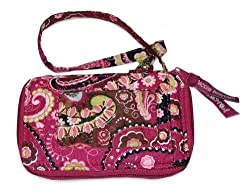 Wristlet Quilted Pink Paisley