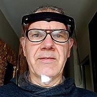 Visière protection visage vinyle transparent sur élastique écran souple et lavable