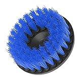 Devekop bohrmaschine Bürstenaufsatz - 5inch,Power Scrubbing Auto Bürste für Auto, Teppich, Badezimmer, Holzboden, Waschküche exc(Blau)