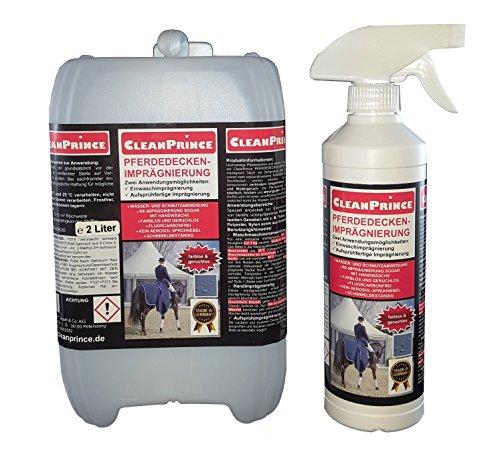 2,5 Liter CleanPrince Pferdedeckenimprägnierung Pferdedecke Imprägnierung Wetterschutz Imprägniermittel Fleckschutz