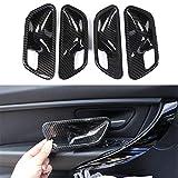 Carbon ABS Chrom Innen Zubehör inneren Tür Griff Schüssel Dekoration Rahmen Cover Trim Aufkleber für 34Serie F30F32F35316i 318i 320Li 2013–2018