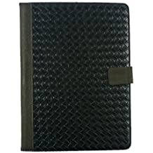 Emartbuy® Dragon Touch A1X Plus 10.1 Pulgada Tablet PC Universal Range Negro Woven PU Leather Ángulo Múltiples Executive Folio Wallet Case Cover With Card Slots + Negro Lápiz Óptico