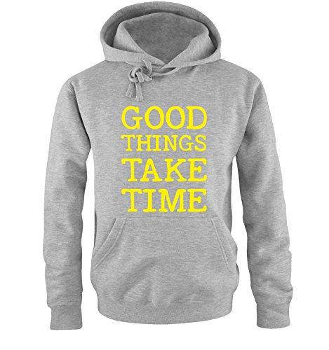 Comedy Shirts -  Felpa con cappuccio  - Maniche lunghe  - Uomo grey / neon yellow