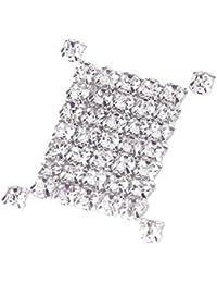 SODIAL (R) 40 piezas suelta facetas cose en Rhinestone perla 4mm
