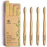 Somo Natural Bamboo Adult Toothbrush, Organic Plant Based Soft BPA Free Bristles Eco Friendly Biodegradable Wooden...