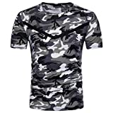 Malloom Chemisier Haut Imprimé Camouflage Casual O Neck Pullover Longue T-Shirt