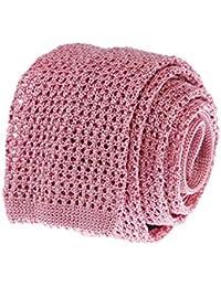 Bruce Field - Cravate fine tricot de soie en maille ajourée - Modèle 3609