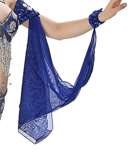 Bauchtanz Arm Ärmel Cosplay Performance Kostüm tragen mit Schmuck Armband Armbänder Erwachsene Fraue (Blau) (Einfache Indische Kostüm Für Erwachsene)