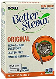 Now Foods Betterstevia Sweetner, 100 Packets