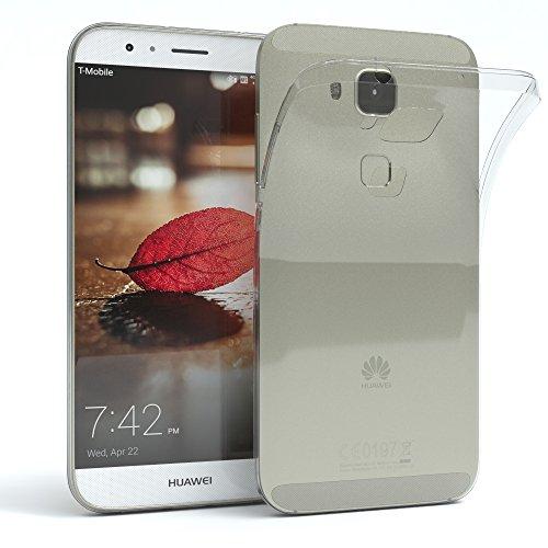 EAZY CASE Hülle kompatibel mit Huawei G8 Schutzhülle Silikon, Ultra dünn, Slimcover, Handyhülle, Silikonhülle, Backcover, Durchsichtig, Klar Transparent