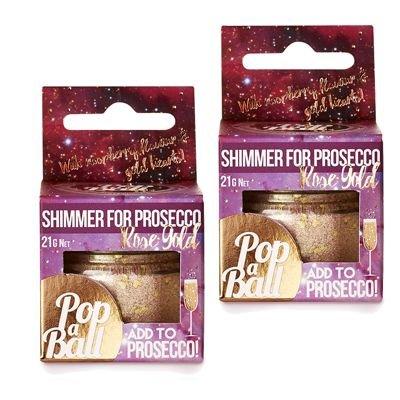 Shimmer für Prosecco-Roségold–Prosecco Schimmerpuder–2 Stück