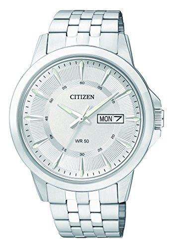 Citizen Herren-Armbanduhr Analog Quarz Edelstahl BF2011-51AE